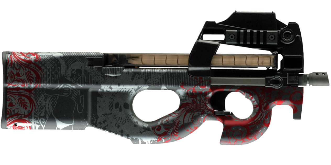 png freeuse library P urban paint stock. Vector carbine p90