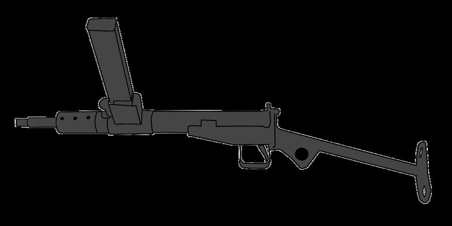 svg free library Vector carbine submachine gun. Sten machine by whellerng