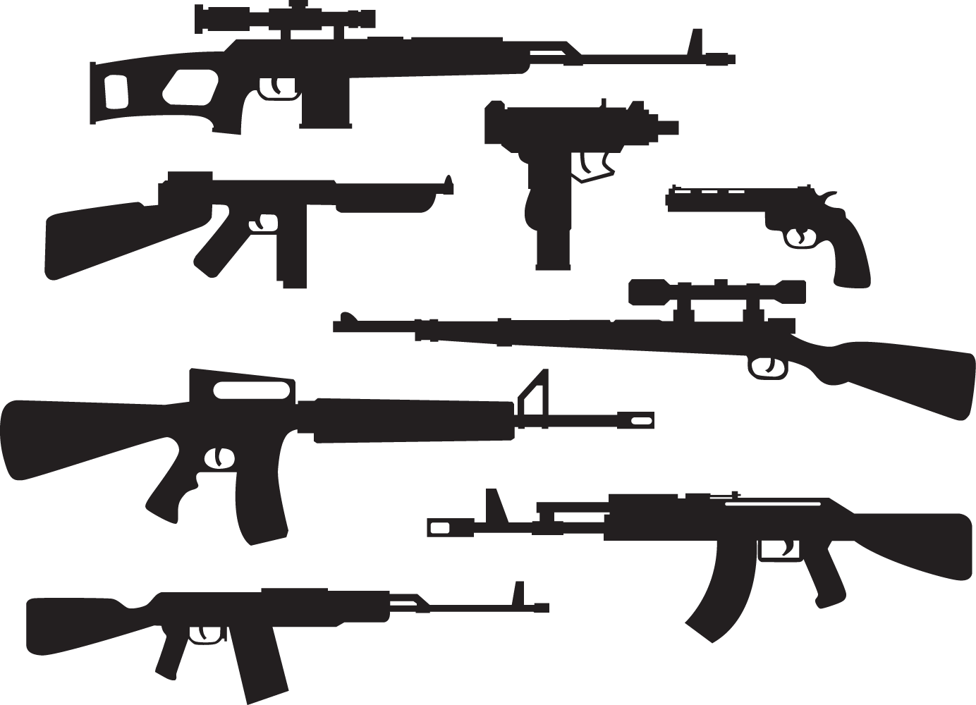 graphic freeuse download guns vector carbine #113370278