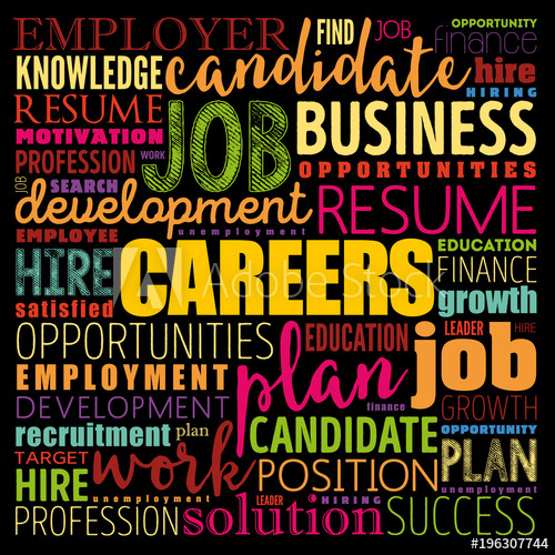 svg royalty free stock Vector careers concept. Word cloud collage business