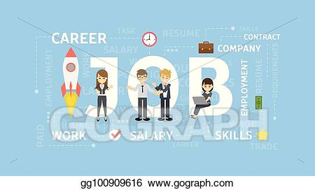 banner Vector careers concept. Stock job illustration clipart