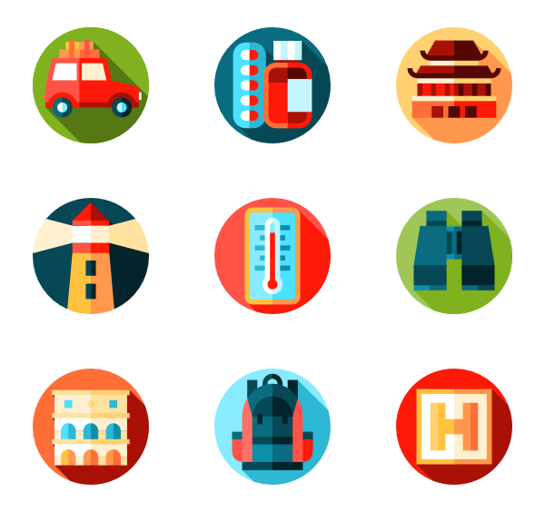 banner free library Journey free travel icon. Vector careers icons