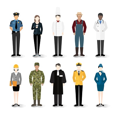graphic freeuse library Vector careers illustration. Download premium of set