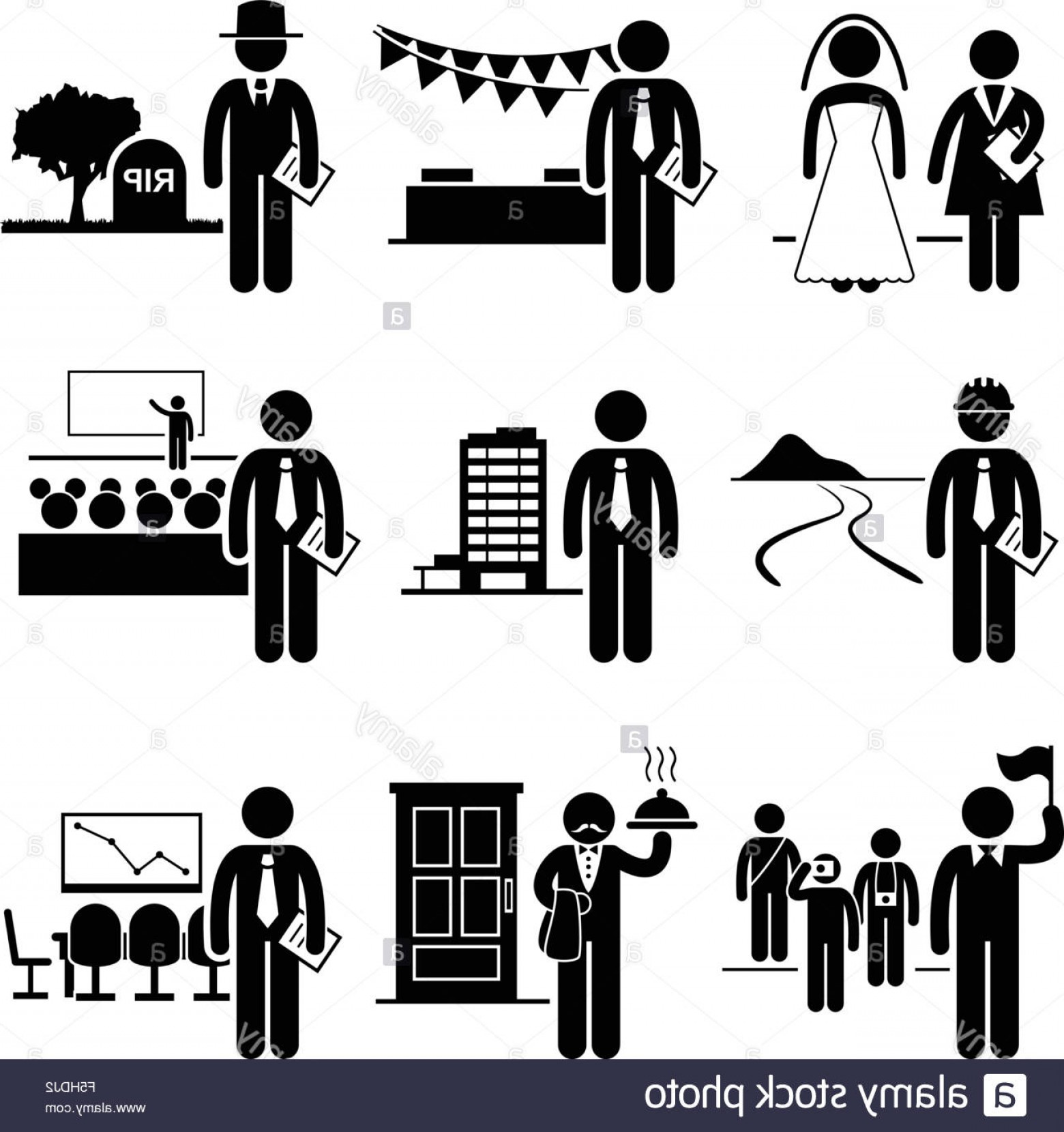 graphic royalty free library Vector careers occupations. Stock photo administrative management