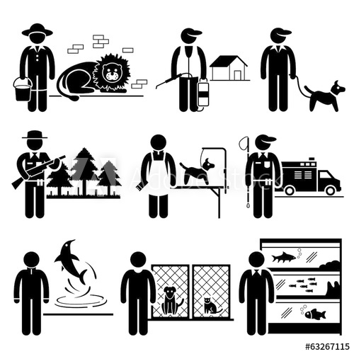 clip royalty free library Animals jobs buy this. Vector careers occupations