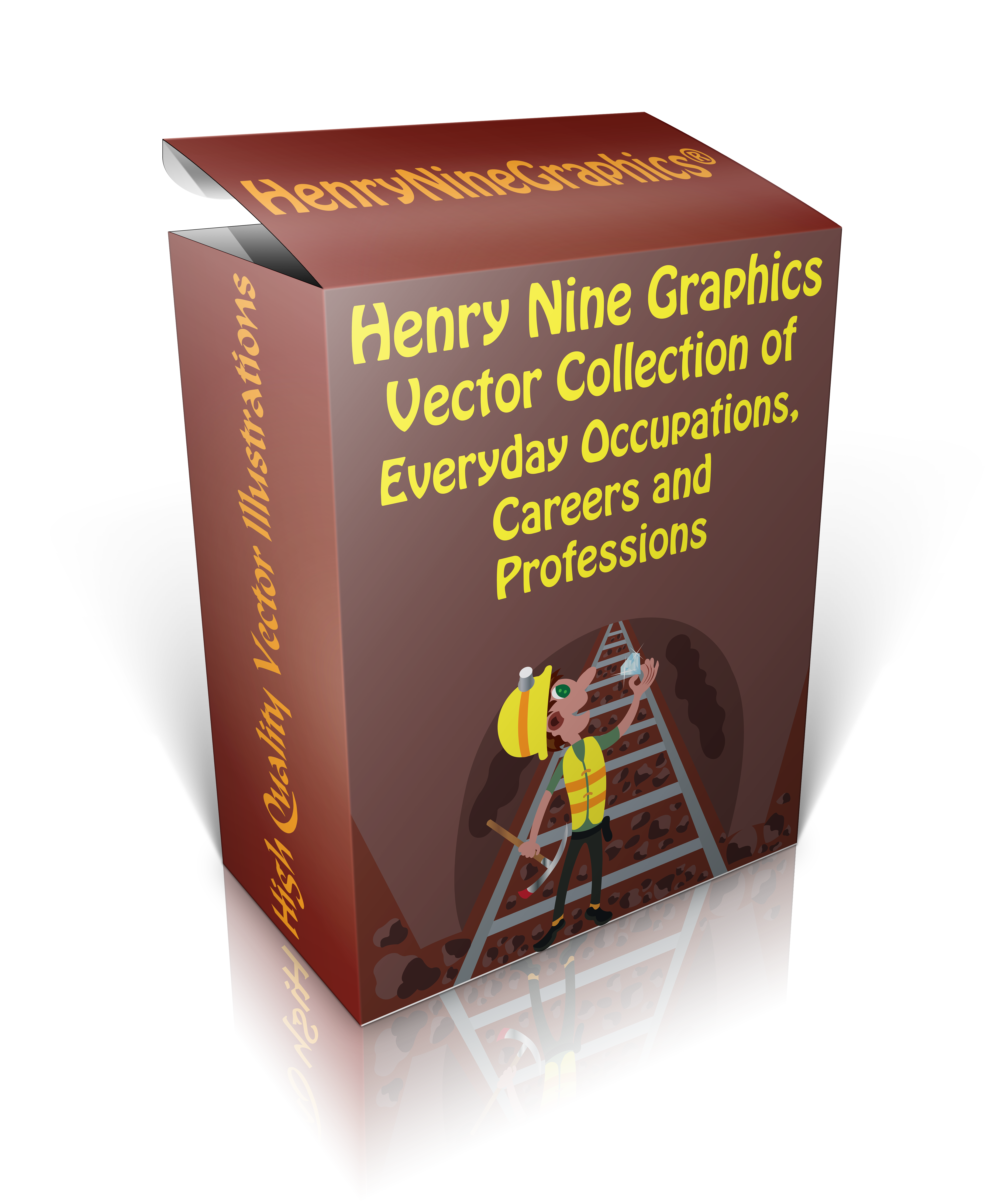 png Vector careers professions. Landingpage box cover image