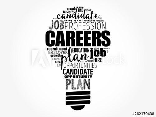clip art free Light bulb business concept. Vector careers word cloud