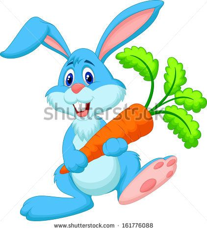 banner transparent library Vector carrot bunny. Cute rabbit with stock