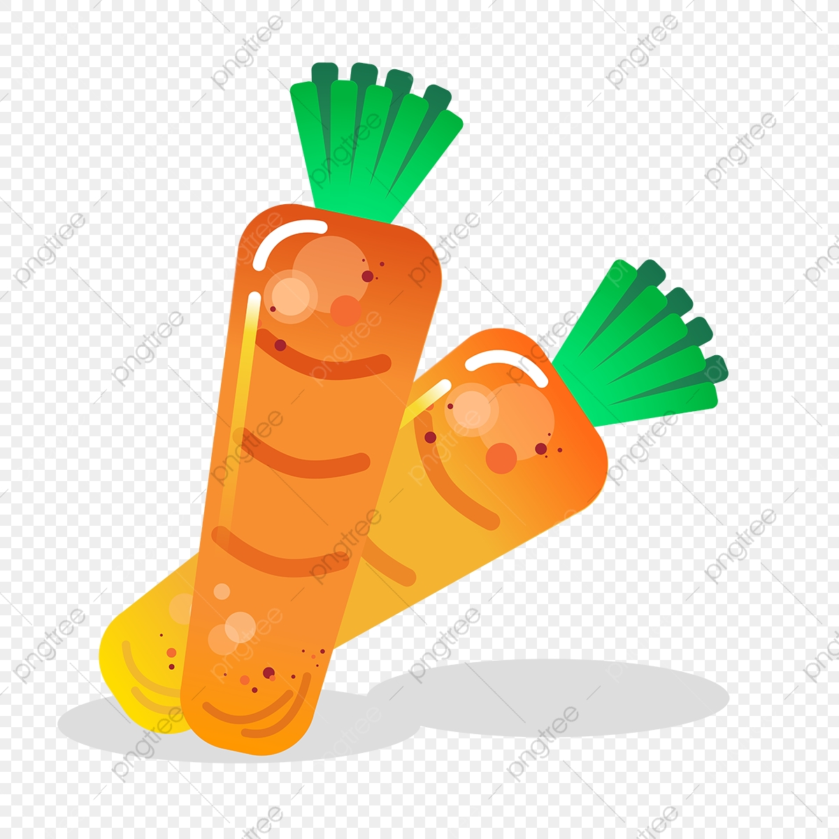 clip art black and white library Vector carrot cartoon. Cute color carrots vegetables