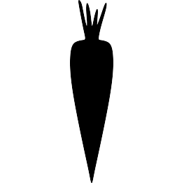 svg freeuse library Vector carrot silhouette. At getdrawings com free