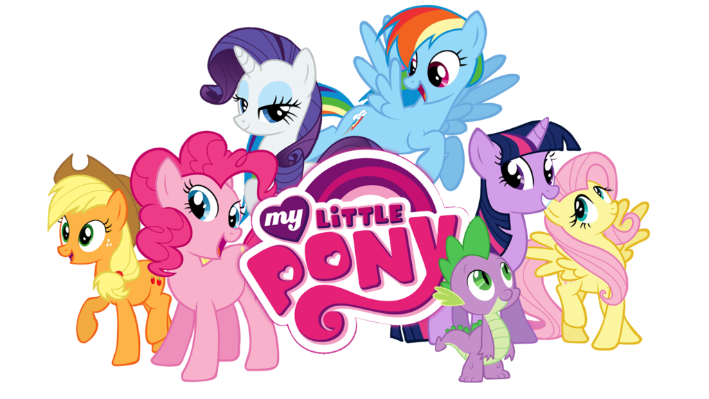 svg download Vector cartoons background. My little pony characters