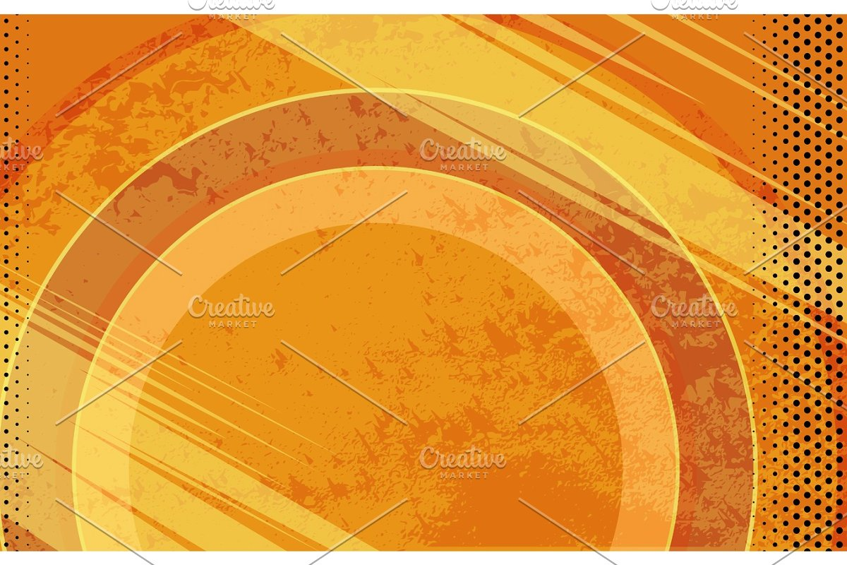graphic Comic book orange grunge. Vector cartoons background