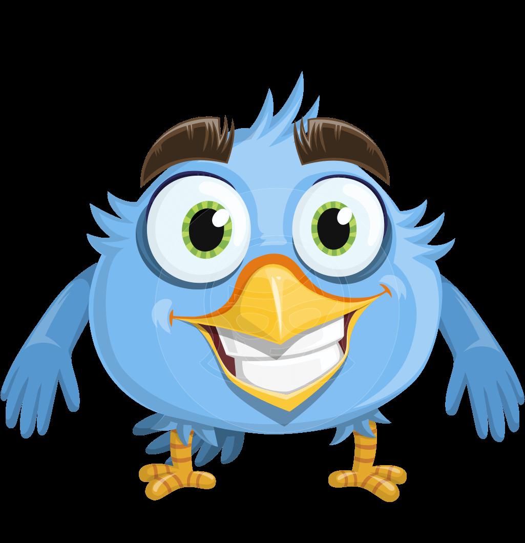 jpg free download Vector cartoons bird. Smiling character robird plumage