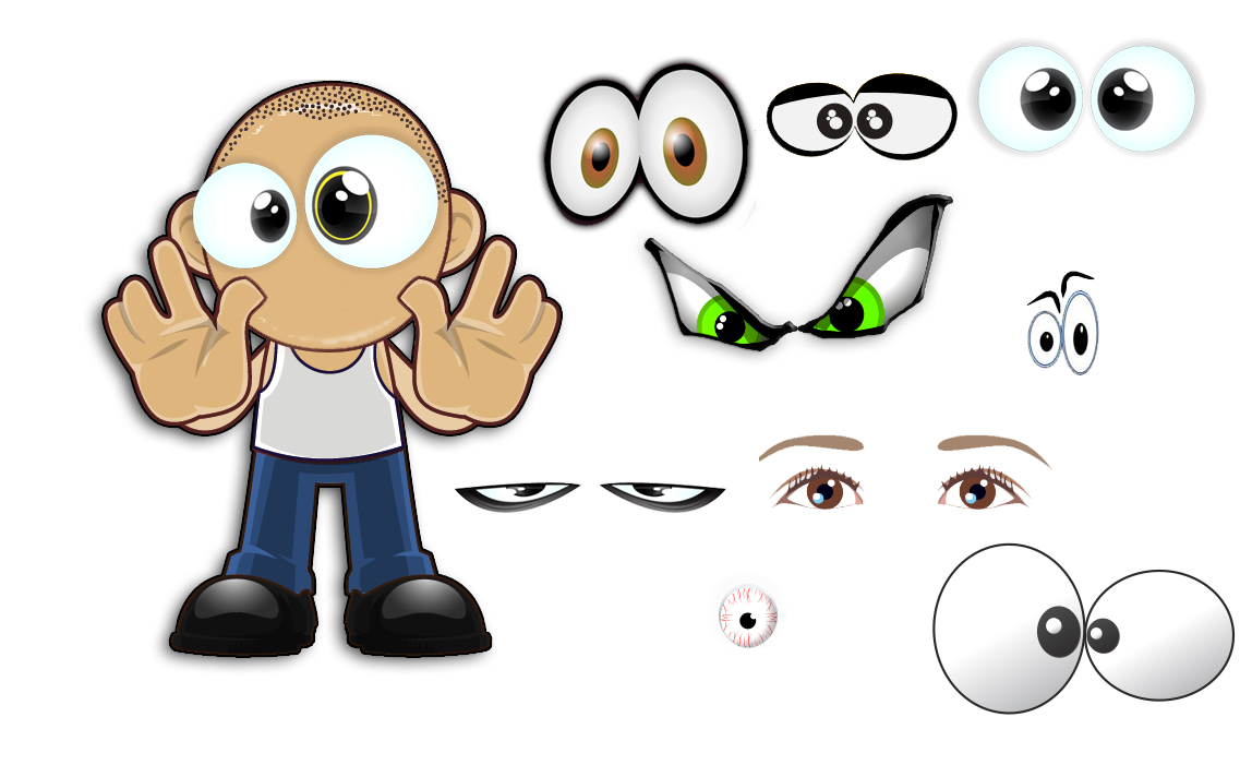 jpg stock Characters caricatures the power. Vector cartoons body