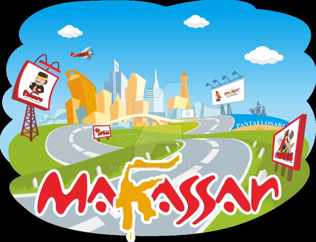 royalty free library Makassar by asalada on. Vector cartoons city