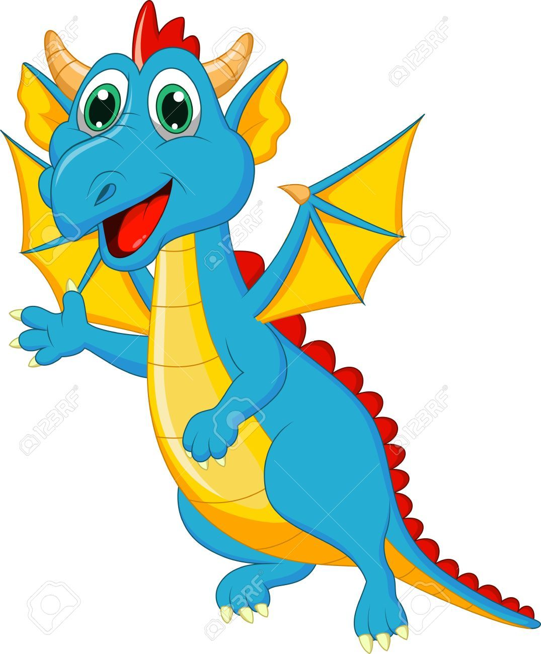 jpg black and white Stock pictures cute dragons. Vector cartoons dragon