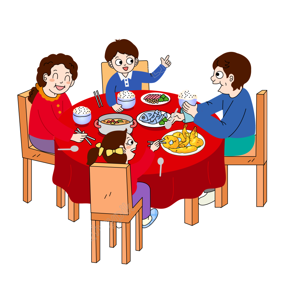 graphic freeuse download Vector cartoons family. Hand drawn cartoon reunion