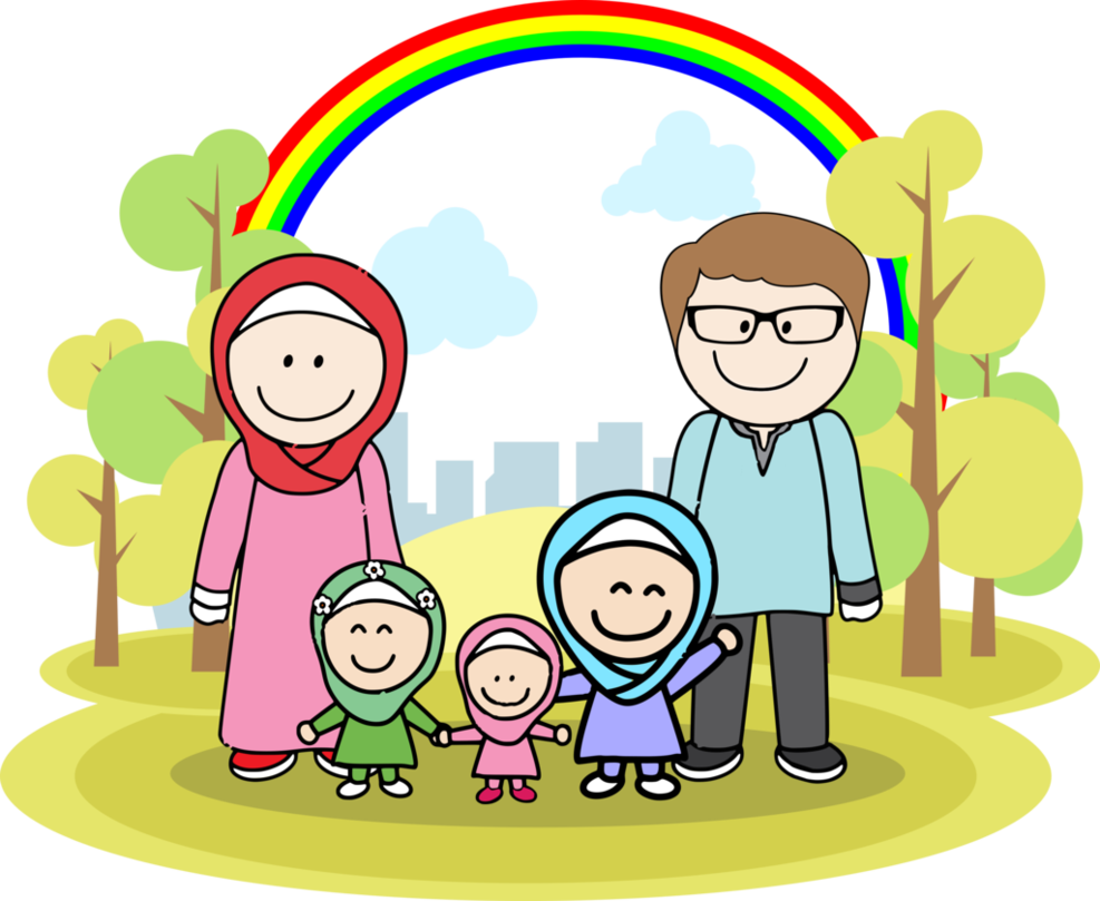 png download Vector cartoons family. Muslim by denutd on