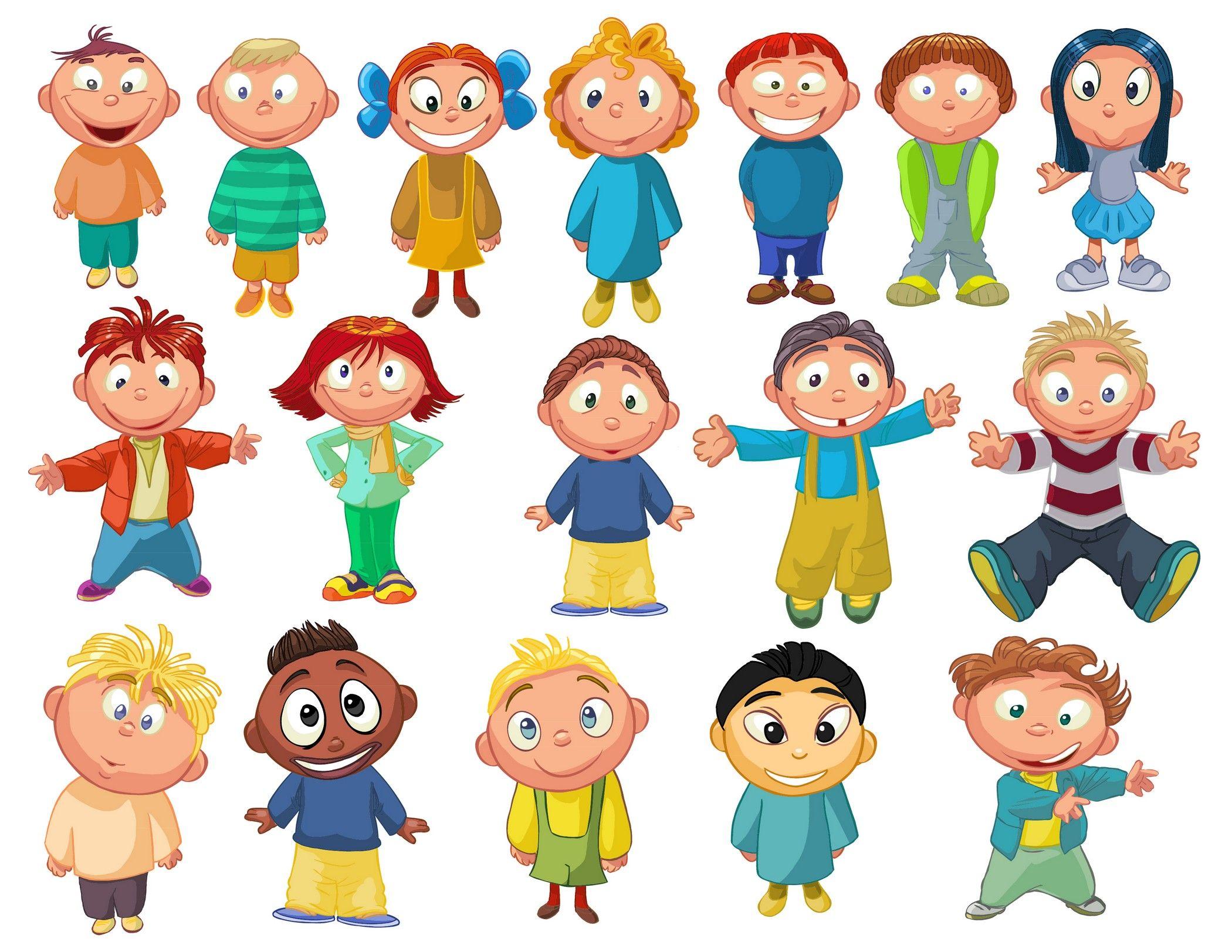 clip freeuse download Vector cartoons kid. Cartoon children kids people