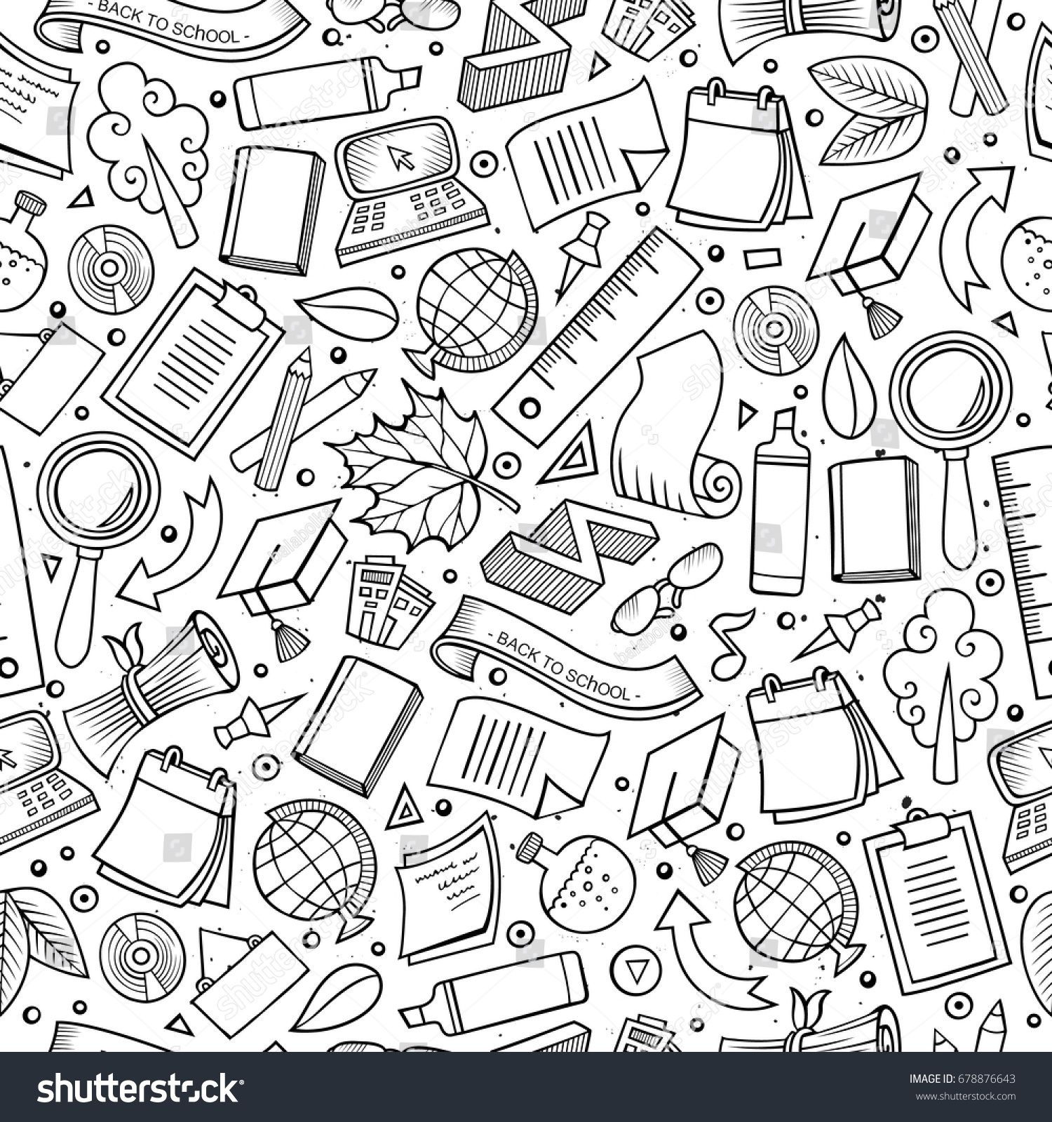banner freeuse Vector cartoons pattern. Cartoon cute hand drawn