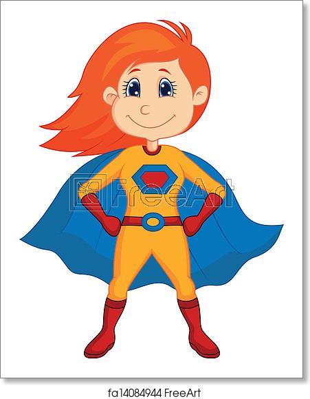 clip Free art print of. Vector cartoons superhero