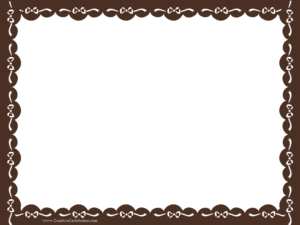 banner library stock Vector certificate border. Brown template