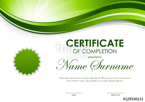 svg black and white Vector certificate completion. Of template stock image
