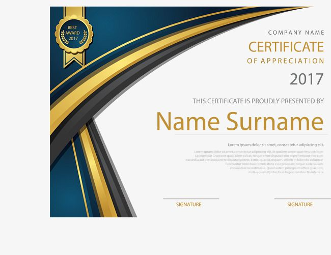 jpg black and white library Vector certificate file. Golden english template training