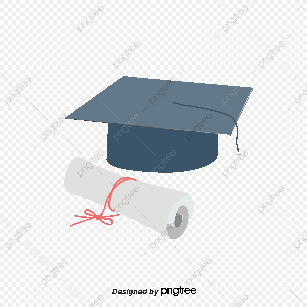 image transparent download Bachelor cap and icon. Vector certificate graduation