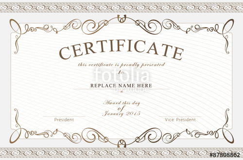 svg library Vector certificate high resolution. Border template