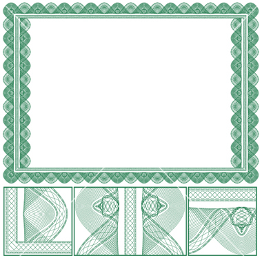 jpg freeuse download  borders green images. Vector certificate high resolution