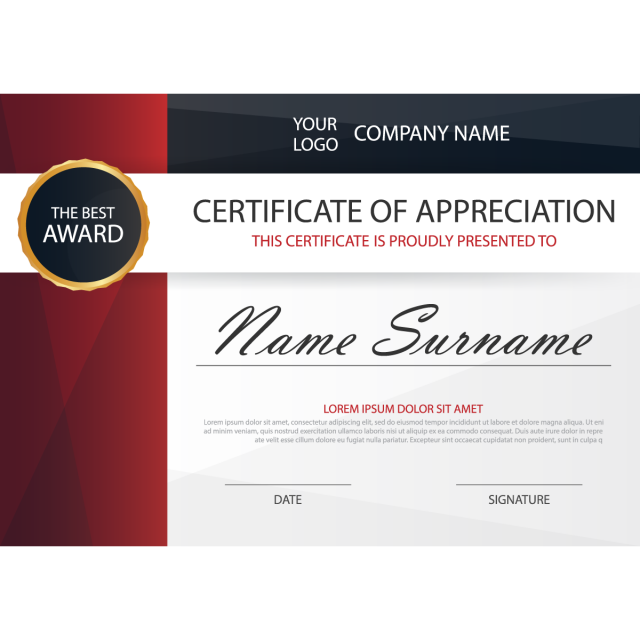 graphic library library Elegance horizontal certificate with Vector illustration Template