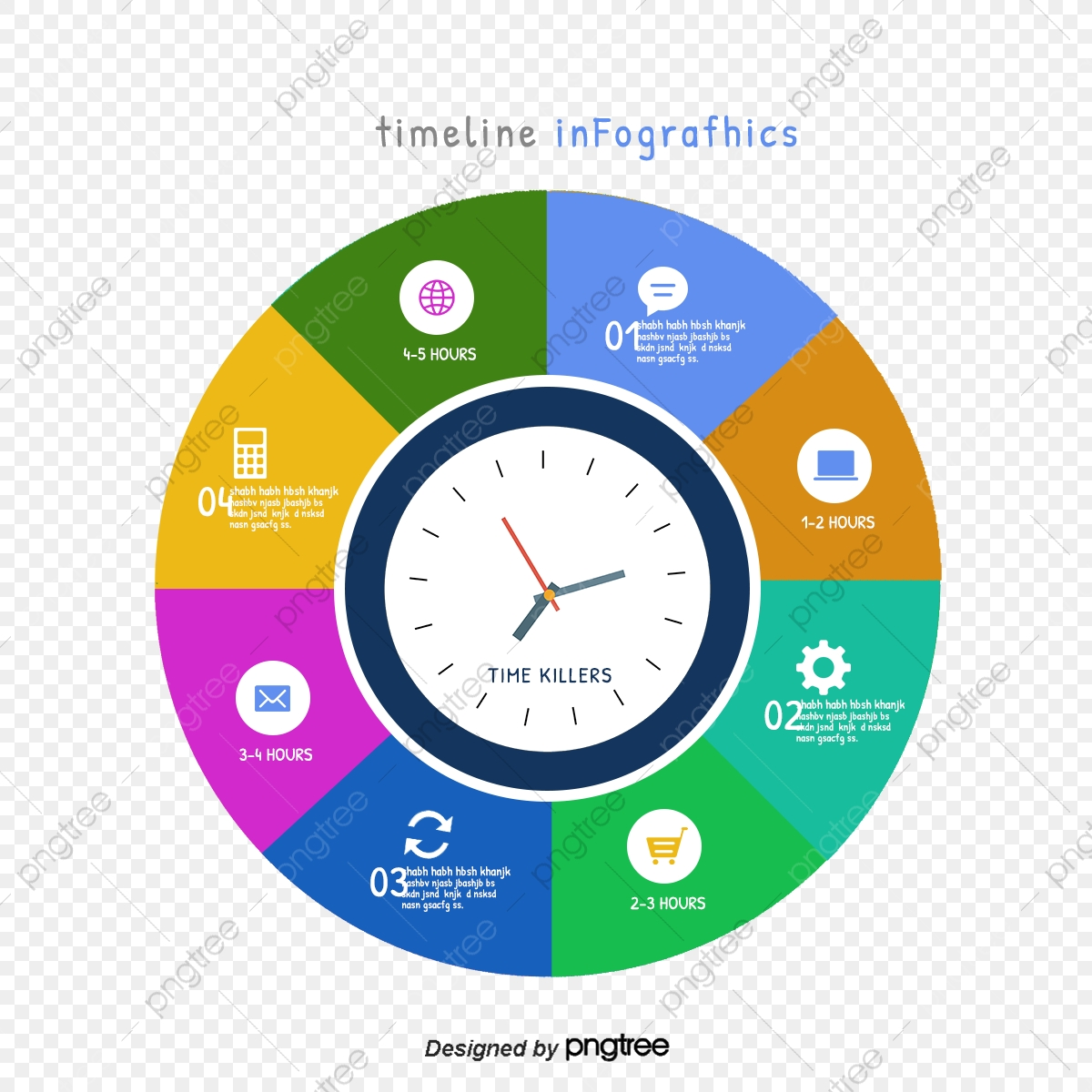 picture library A clock image download. Vector chart timeline