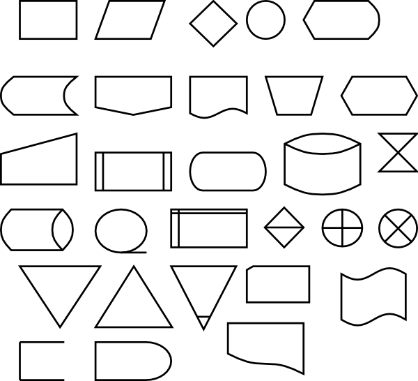 transparent download Symbols clip art at. Vector charts flow chart