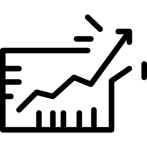 jpg black and white library Vector charts growth. Business chart free icons
