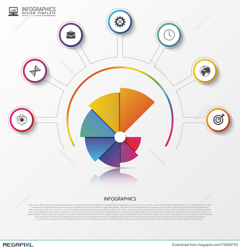 image free download Infographics options banner spiral. Vector charts modern
