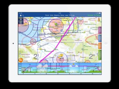 graphic black and white download Vector charts navigation. Skydemon vfr flight planning