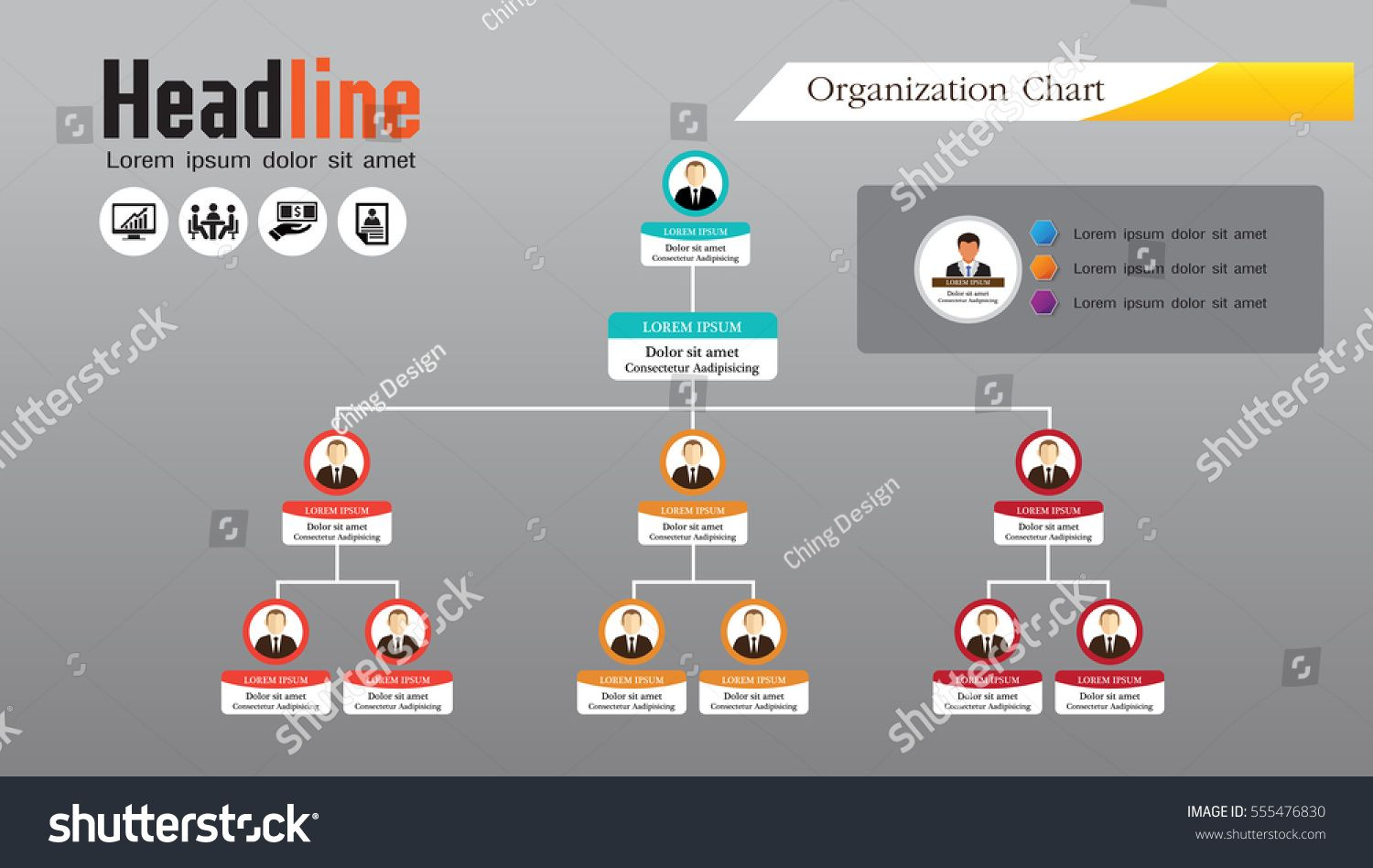 jpg freeuse download Chart infographics with people. Vector charts organization