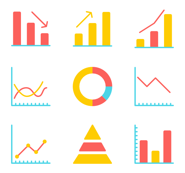 free stock Vector charts psd.  compare icon packs