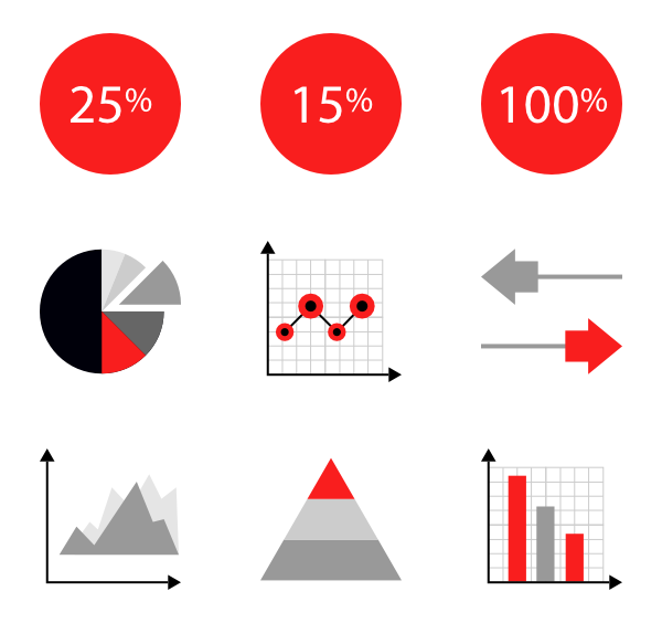 svg stock  icon packs for. Vector charts psd