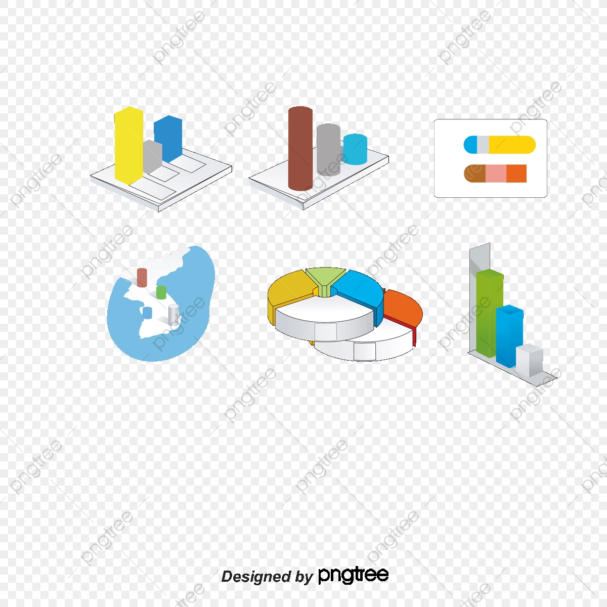 picture freeuse A variety of statistical. Vector charts statistics