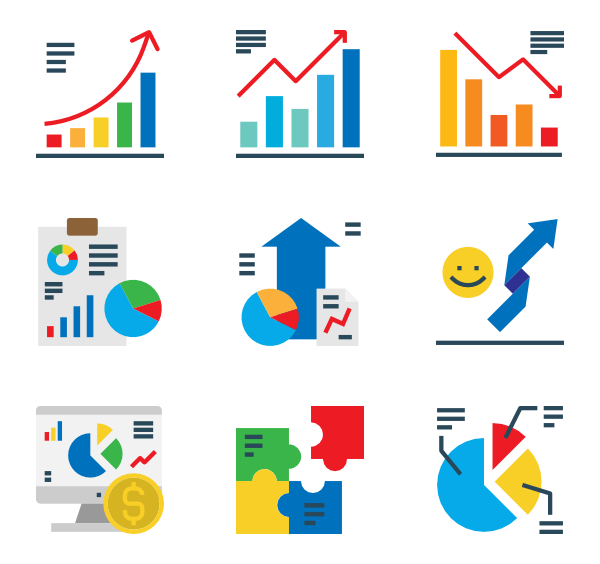 jpg free download  chart icon packs. Vector charts