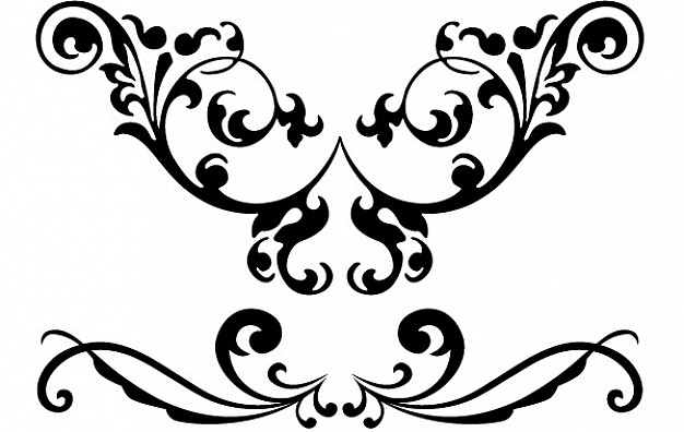 clipart library Vector clipart. Free flourish library clip