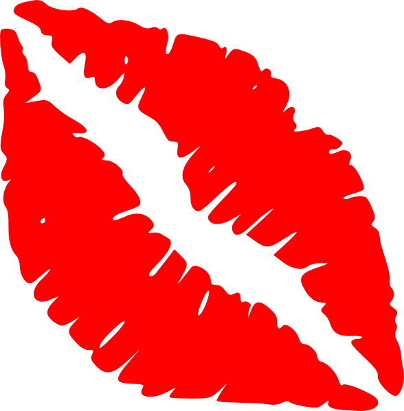 graphic Red Lips Kiss Clip Art at Clker