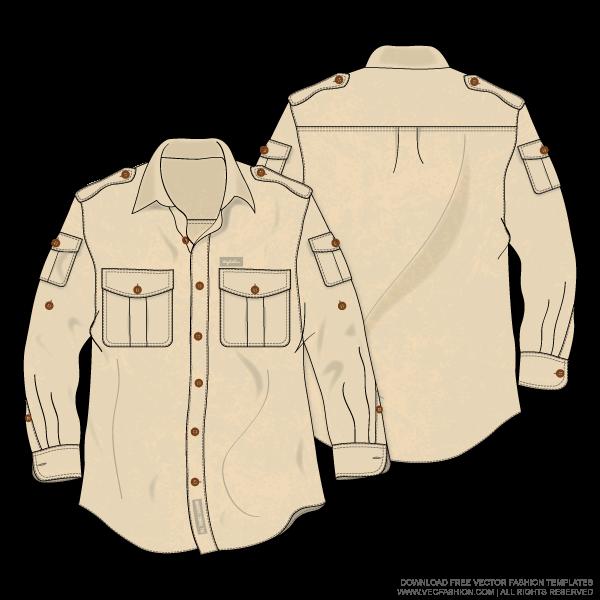 jpg transparent Men bush shirt or. Vector clothing baju raya