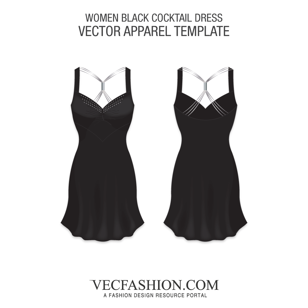 vector free library Vector clothing black. Dresses suits tagged vecfashion