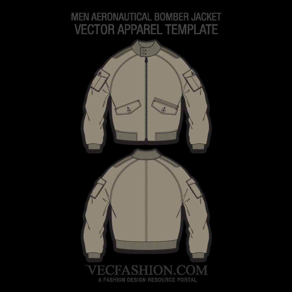 clipart free library Vector clothing bomber jacket. Aeronautical template vecfashion