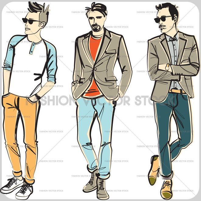 image transparent download Young men male fashion. Vector clothing casual dress