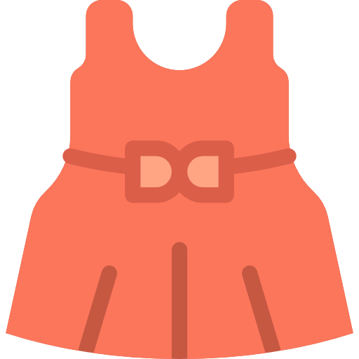 royalty free Hearts fashion dresses girls. Vector clothing child dress