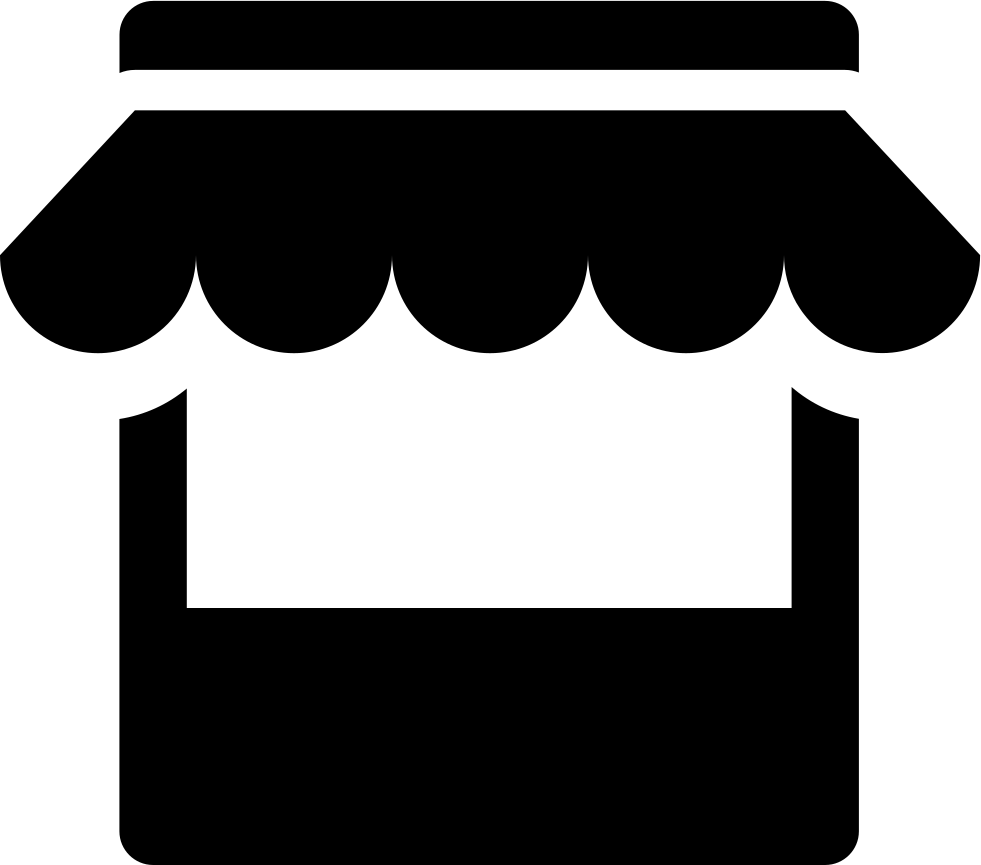 clipart black and white stock Store svg png icon. Vector clothing convenience